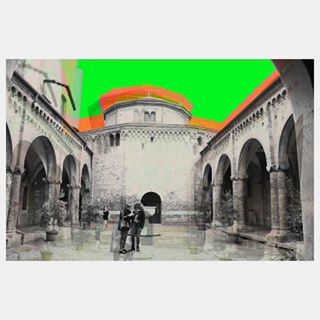 abstractphotography travel architecture photography digitalart abstractart art orange green trippy italy