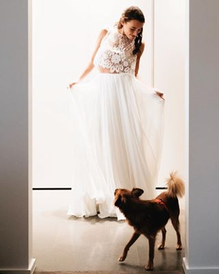 justmarried firstlook weddingdress weddingphotographer amansbestfriend lesmushis dog