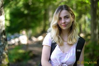 beautifulportrait blondgirl blueeyes fille forest forestwalk france girl girlportrait hautesavoie hike leaves passy portrait portraitphotography sharpandblury simonmoricemedia trees🌲 walkingintheforest