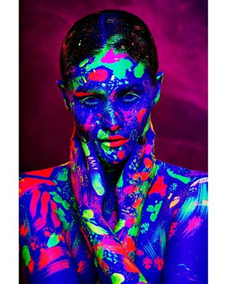 art blacklight bodypaint bucharest d850 dark festival glow glowindark glowpaint lighting makeup mua neon neonpaint nikon photography portrait profoto retouch romania sharp uv uvlight
