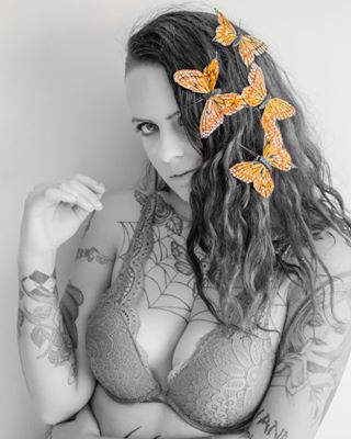 35mm angel blackandwhite butterfly colourbutterflies hairclips lightroom lingerie modellife nikon photographerlife photoshoot prints signedcontent tattoos