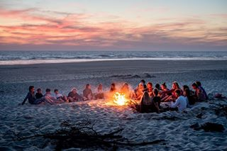 surfing sunset campfire surfcamp sports photographer surflife dreamy action westcoast photography