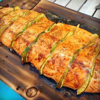 wood smoker salmon lemon fish bbq
