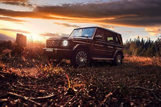 gmodel geländewagen black v8biturbo carporn amg v8supercars car automotivephotography mercedes letsgo offroad blackforest suv power sunset mountains autumn 4x4 forest