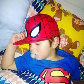 superman spiderman sleep saturdaynights goodboy