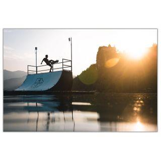 canonmoment flowramps photooftheday thankyouskateboarding hannesmautnerphotographie canonaustria photography summer sunset slovenia lakebled skateboarding