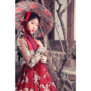 hanbok model reddress hanbokkorea 서울 한복 koreanmodel seoul tree seoulmodel blackhairmodel 모델 munichphotographer koreangeisha asianmodel hat geisha polishphotographer