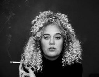 curls selfportrait shoot mood portraitphotography canon5d photography curlyhair weird canonmarkiv model 2 blackandwhite blackandwhitephotography girl scrunchie moody instashot portrait photographer instagram modeling smoking