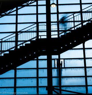urbanphotography photoapetite olympuscamera longexposure staircasedesign loveforphotography sbb bluetower urban fixlenses hadbrücke zurichswitzerland zurichdowntown