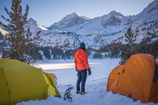 subzero sierradesignsconvert wintercamping sierranevada littlelakestrail winter snowshoeing optoutside camping msrfury longlake backpacking getoutdoors