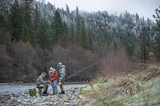 ignorethecold kindacrazy winterfishing flyfishing coldmornings notcrazy gotfish riverfishing greatmemories