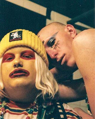 disease lookslikefilmbecauseitis filmisnotdead film backstage 35mm venerealdisease dragqueen