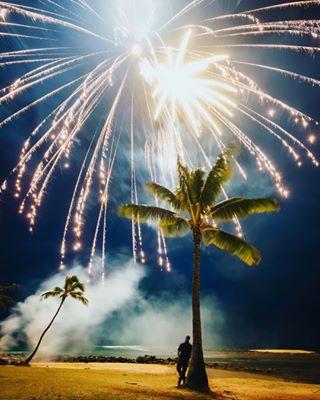 fireworksonthebeach poipubeach happynewyear wow hawaiianchristmas nightphotography vsco hawaiiannewyear aloha nikond750 beach kauai lucky