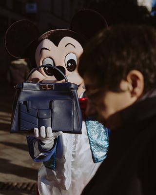 fashion shoot fendi grazia magazine madrid mickeymouse stilllife handbag