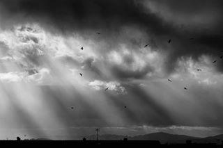 landscape dark clouds sunrays instapic landscapephoto bw photooftheday sky photographer blackandwhite photo contrast photography picture tamron nikon picoftheday instaphoto