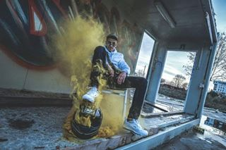 belgium brussels bruxelles colors lifestyle portrait rapfrancais shooting smoke urban yellow