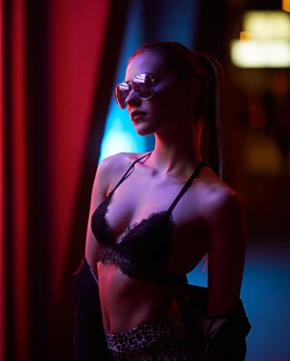 austria beauty canon colorfull cyberpunk different future model moodygrams neon night picoftheday portrait vienna