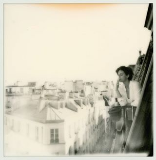 paris balcony parisiangirl hungariangirl solitude lady parisianphotographer rooftop smoking goodtimes vintage chill blackandwhite impossible600 impossibleproject photographercollab photographerparis polaroidlove model parisienne photosession parisianchic cigarette sky analoguelove polaroid smoke analogue