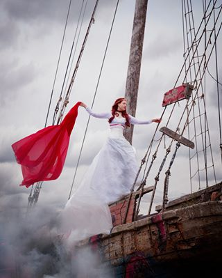 adventures gothic wonderland inspire love romantic mood fantasy helsinki modeling shipwreak darkbeauty sompasaari instabeauty weddingdress traveling fineart ship greysky fairytales canon5dmarkiii fog gingerhair