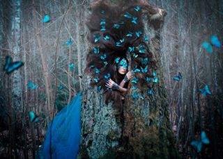 instabeauty butterfly morpho makeup bestphoto fairyland dusk blue traveling artphotography weekend picoftheday design darkbeauty fineart portrait nature mood inspire sleepingbeauty wood romantic secretplace fairytales fantasy adventures love modelswithlonghair