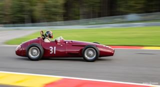 250f 31 circuitdespafrancorchamps classic classicracecar formula1 formulaone guillermofierro maserati maserati250f racecar red spa spafrancorchamps straightsix vintage